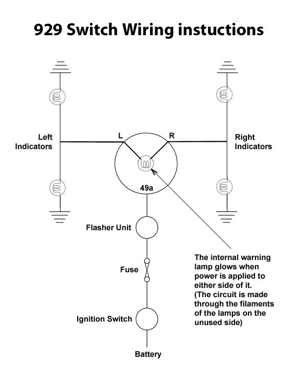 929  indicator switch illuminated - switch - dashboard