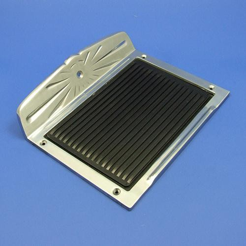 step plate with rubber insert