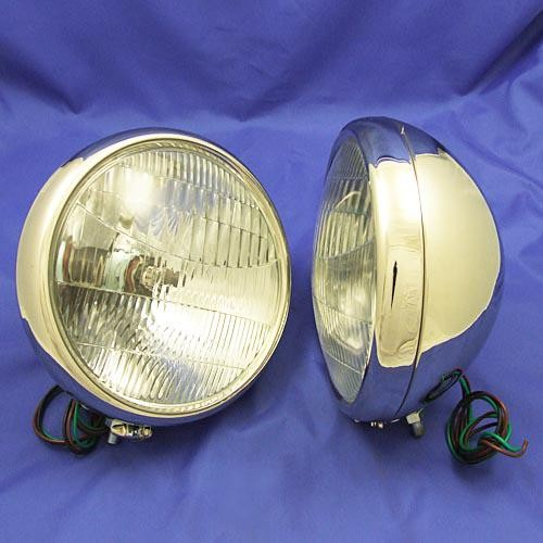 headlamp - stainless steel (pair)