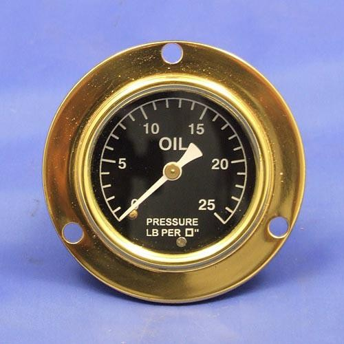 oil pressure gauge - calibrated 0-25lb/sq in