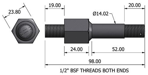 chassis mounting bolt