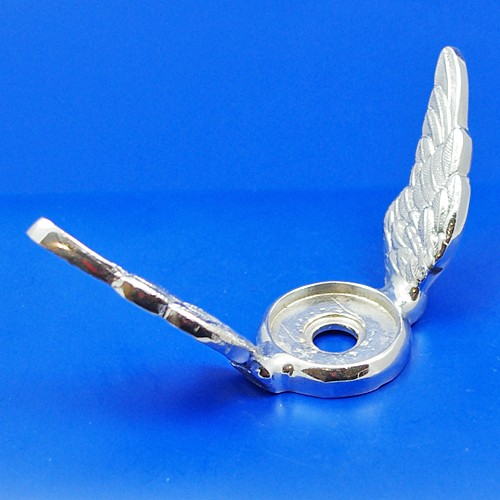 calormeter wings - small raised wing - chrome